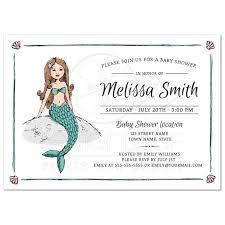 mermaid baby shower invitations the sea mermaid baby shower invitation storybook style