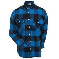 Flannel Shirts Rothco Shirts S 4739 Blue Black Buffalo Plaid Flannel Shirts