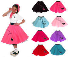 50s Halloween Costumes Poodle Skirts 1950s Girls U0027 Costumes Ebay