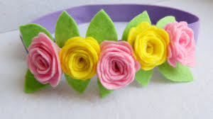 felt headbands how to make a pretty felt flower headband diy style tutorial
