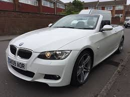 matte white bmw 2009 bmw 320d se highline convertible white only 49k fsh