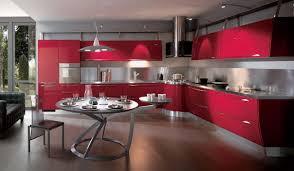 Kitchen Red Cabinets by Kitchen Ultra Modern Kitchen With Luxury Red Cabinets With