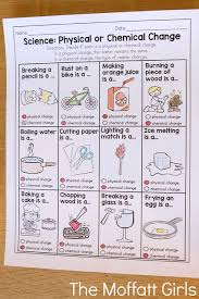 physical or chemical change this is a great practice sheet that