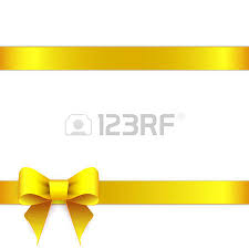 ribbon bow yellow ribbon bow horizontal border royalty free cliparts vectors