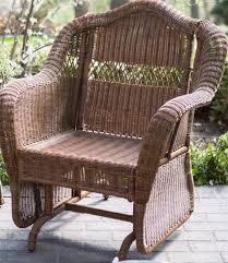 Wicker Rocker Patio Furniture - outdoor patio glider chair resin wicker rocking swing porch