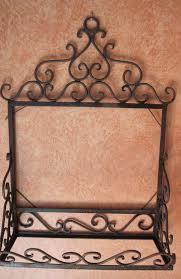 vintage wrought iron shelf u0026 mirror back unit omero home