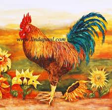 rooster backsplash rooster kitchen backsplash with sunflowers