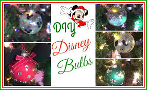 diy disney bulbs ornaments 2015