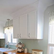how to add crown molding to kitchen cabinets weekend craft