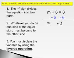 Solving One Step Equations Worksheets Addition And Subtraction Equations Jennarocca