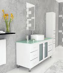 abaco 47 25 inch vessel sink bathroom vanity tempered glass top