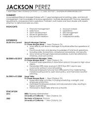 Branch Operations Manager Resume Best Branch Manager Trainee Resume Example Livecareer