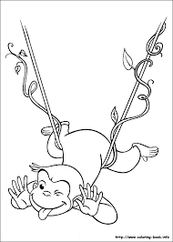 curious george coloring picture hand embroidery children u0027s