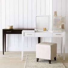 white vanity desk with mirror foter