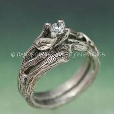engagement and wedding ring set acadia wedding ring set twig engagement ring matching