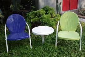 refurbished antique metal lawn chairs retro metal lawn chairs