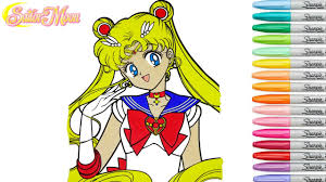 sailor moon coloring book pages rainbow splash rscb anime speed