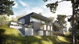 Haus D Zweib Architekt Neuweiler Haus Hanglage Modern Einfamilienhaus