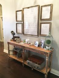 warmth of decorations rustic entry table wood furniture