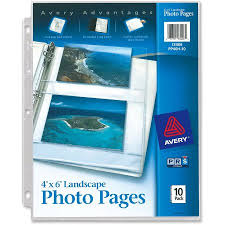 4x6 photo pages for 3 ring binder avery photo storage pages for four 4 x 6 horizontal photos 3
