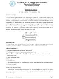 direct shear test lab manual soil mechanics physics