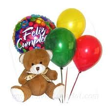 balloons and teddy bears teddy with balloons vallarta gifts