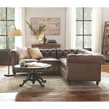 home decorators colleciton home decorators collection gordon 3 piece brown bonded leather