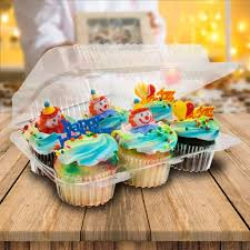 Cupcake Canisters For Kitchen Cupcake Containers 24 Count Mini Plastic Cupcake Container