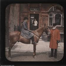 Color Photos Of A And A Horse From 104 Years Ago Pre 1920s