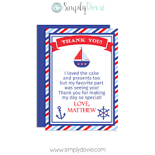 nautical thank you cards nautical thank you cards nautical birthday thank you card smart