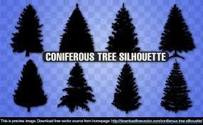 10 christmas tree silhouette vectors download free vector art