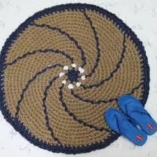 Jute Outdoor Rugs Round Crochet Jute Rug Natural Fiber From Exotiflora Natural