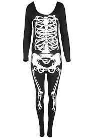 Ladies Skeleton Halloween Costume by Womens Halloween Skeleton Bones Ladies Bodycon Tunic T Shirt Dress
