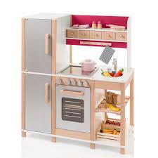 puppenküche holz sun 04136 kinderküche natur beere aus holz mit kühlschrank
