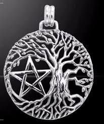 tree of pendant yggdrasil pentacle in 925 sterling silver