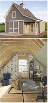 a combination garage shed and loft office this customized
