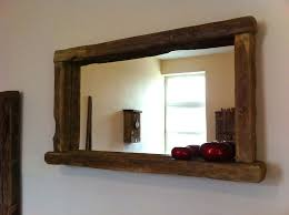 Oak Framed Bathroom Mirror Oak Qualitime Framed Mirror Ethnicraft Within Oak Framed Wall