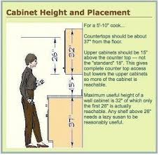 standard cabinet height from counter countertop to cabinet height standard kitchen cabinet height sizes