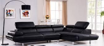 canapé d angle droit ou gauche canapé d angle en cuir noir à prix incroyable