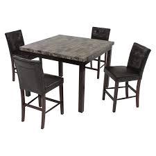5 piece table and chair set achillea brown 5 piece high dining set el dorado furniture