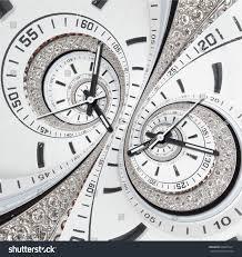 Futuristic Clock Futuristic Modern Strass Diamond White Clock Stock Photo 664855411