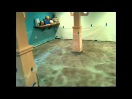 How To Stain A Concrete Basement Floor by Acid Stain Concrete How To Install A Concrete Acid Stained Floor
