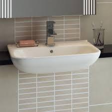 rak origin 62 semi recessed basin 520mm wide 1 tap hole bathroom