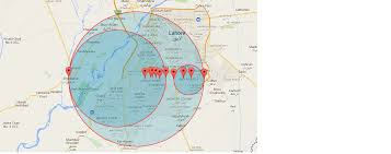 draw a radius on a map how to draw small circles within a big circle greater radius on