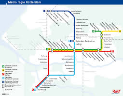 Metro La Map Randstadrail The Hague Metro Map Netherlands