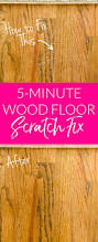 Hardwood Floor Scratches - how to repair wood floor scratches quick fix friday polished