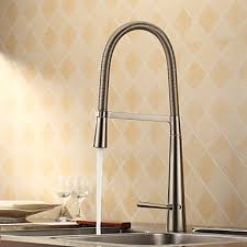 kitchen faucet brass contemporary brass kitchen faucet nickel brushed finish