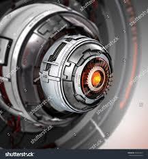 futuristic design conceptual electronic cyber eye stock