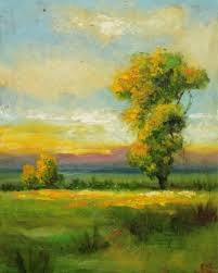 easy landscape paintings for beginners pictures to pin on