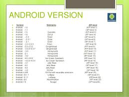 android api versions android summer report